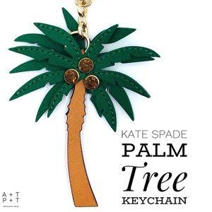 Kate Spade Palm Tree Keychain Bag Charm